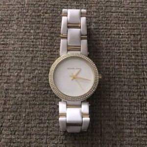 Michael Kors Gold and white women's watch